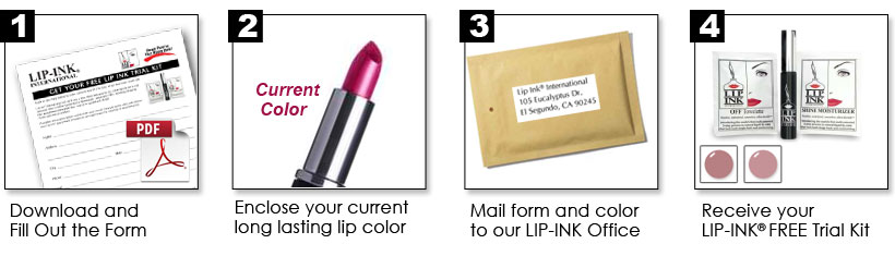 Steps to Receive FREE LIP INK LIP KIT